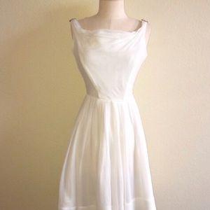 Vintage Emma Domb White Cocktail Dress